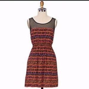 Anthropologie Maeve Peppercorn Floral Dress